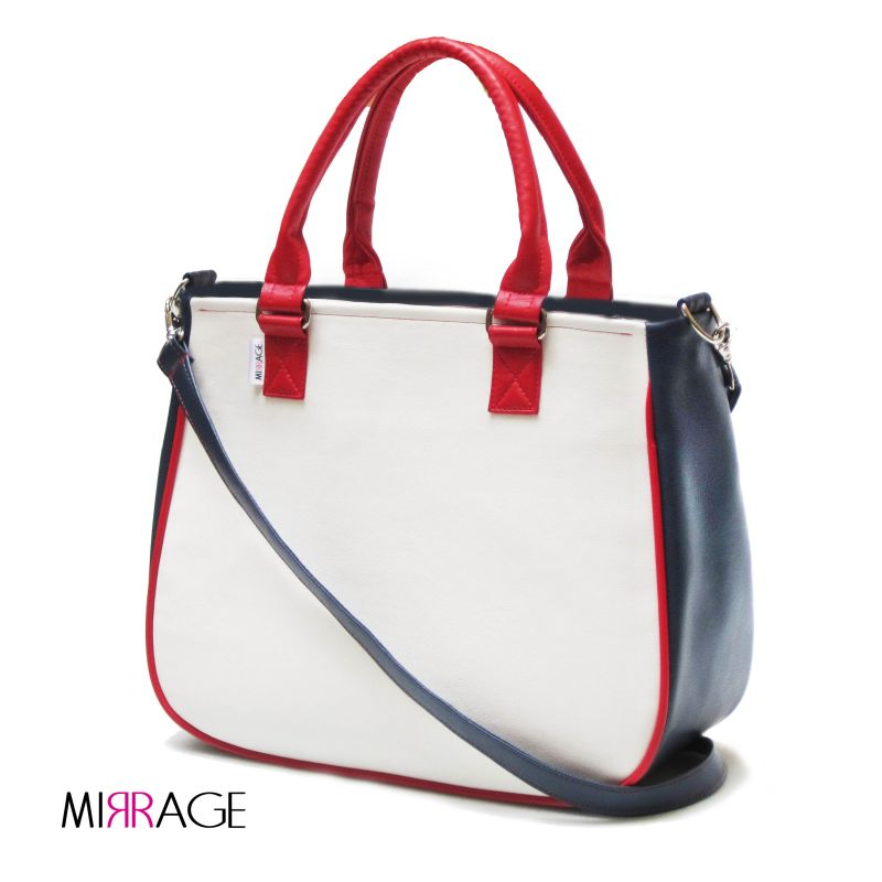Chiara n.34 red, navy & white