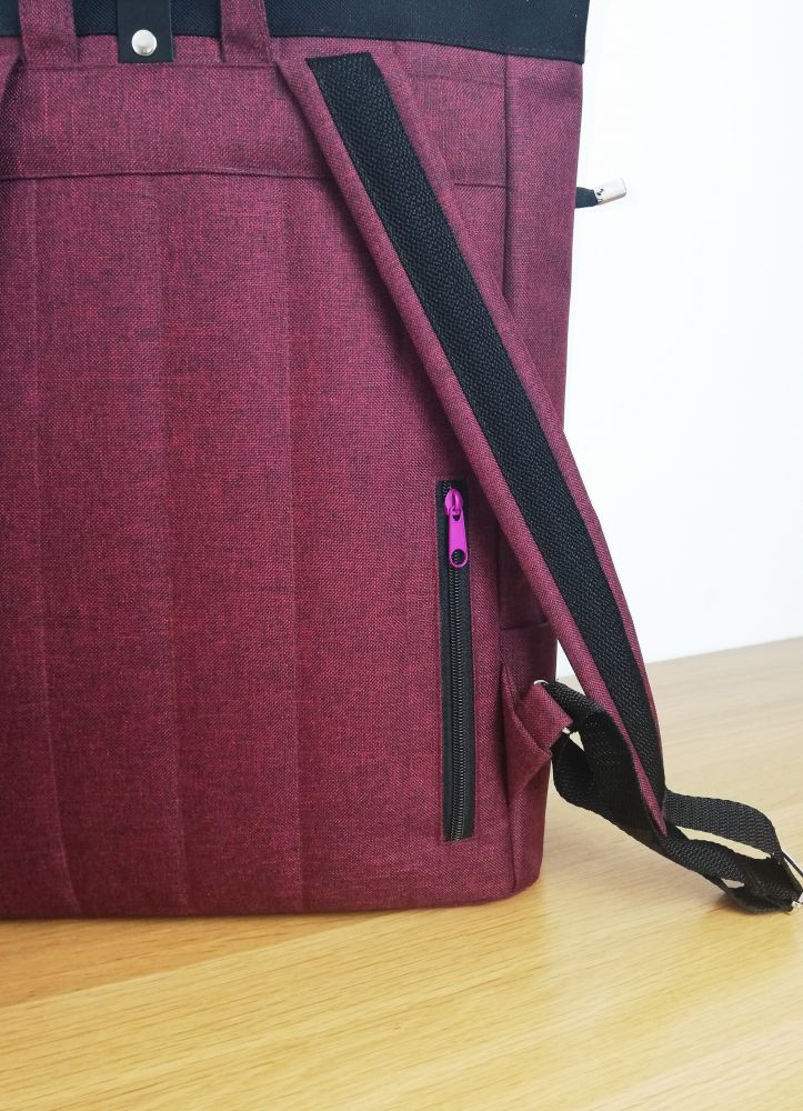 Zoe roll top backpack n.10