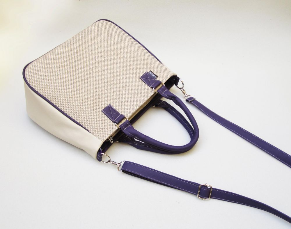 Chiara n.30 purple & dove grey